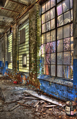 Photograph -  Window Walls Mary Leila Cotton Mill by Reid Callaway