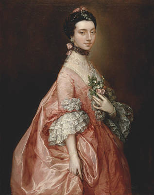18th Century Painting - Mary Little Later Lady Carr by Thomas Gainsborough