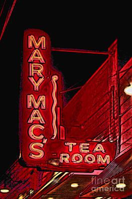 Pop Art Rights Managed Images - Mary Macs Resturant Atlanta Royalty-Free Image by Corky Willis Atlanta Photography
