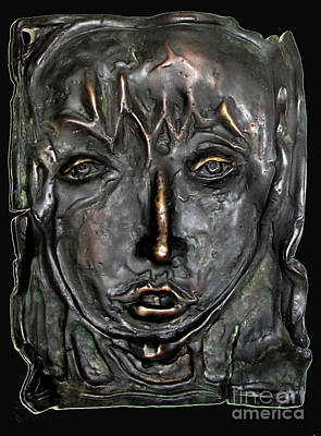 Mary Magdalen Edition Of Six Bronzes Art Print by Charlie Spear