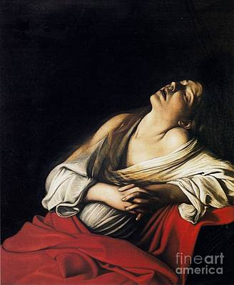 Ecstasy Painting - Mary Magdalen In Ecstasy by MotionAge Designs