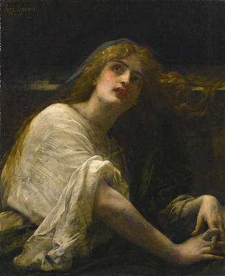 Alexandre Cabanel Painting - Mary Magdalene At The Tomb by Alexandre Cabanel
