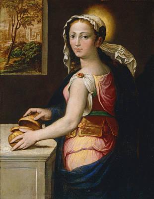 Bernardino Campi Painting - Mary Magdalene by Bernardino Campi