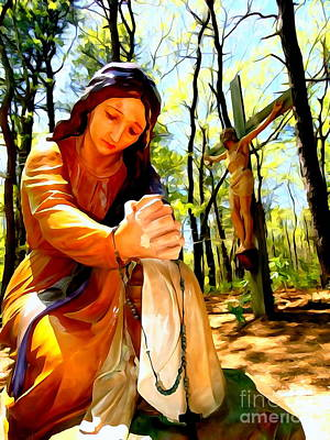 Digital Art - Mary Magdalene by Ed Weidman