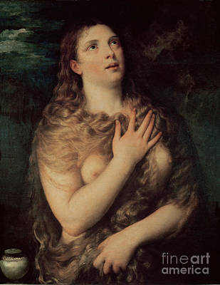 Titian Painting - Mary Magdalene by Titian