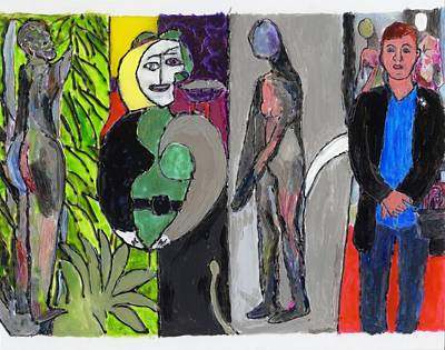 Painting - Mary Matisse And Bathers By The River by Phil Strang