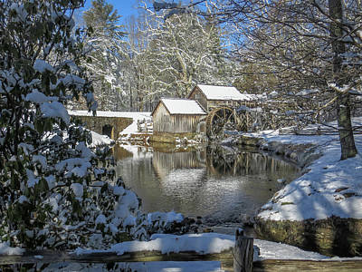 Photograph - Mary Mill Winter Wonderland by Chris Berrier
