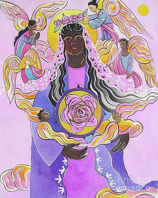 Painting - Mary, Mystical Rose - Mmmyr by Br Mickey McGrath OSFS