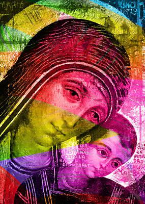 Baby Jesus Digital Art - Mary Of The Way by Munir Alawi