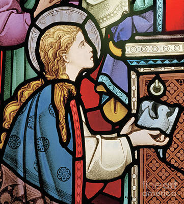 Mary Offering Doves At The Temple Art Print