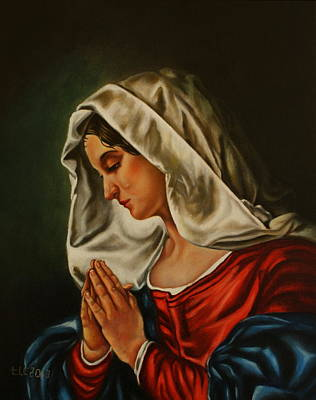 Mother Theresa Painting - Mary, Our Blessed Mother by Theresa Cangelosi