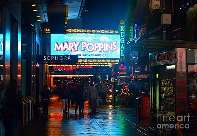Photograph - Mary Poppins On Broadway, New York by Christopher Shellhammer