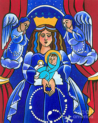 Painting - Mary, Queen Of Heaven - Mmque by Br Mickey McGrath OSFS