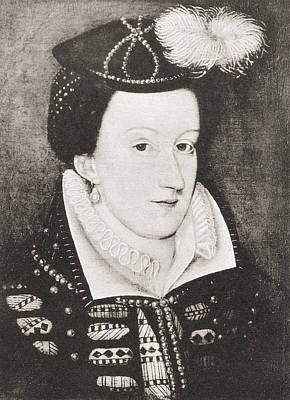 Queen Mary Drawing - Mary, Queen Of Scots, 1542 by Vintage Design Pics