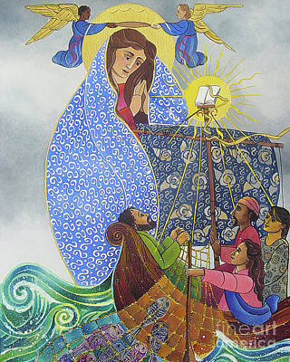 Painting - Mary, Queen Of The Apostles - Mmqap by Br Mickey McGrath OSFS