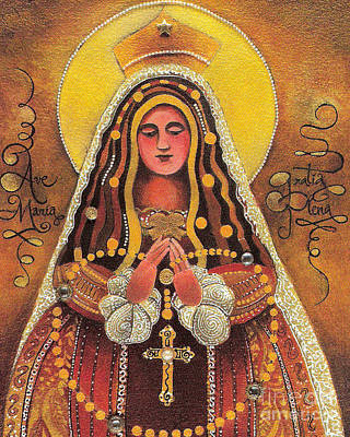 Painting - Mary, Queen Of The Rosary - Mmqor by Br Mickey McGrath OSFS