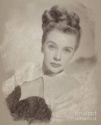 Fantasy Drawings - Mary Stuart, Actress by Frank Falcon