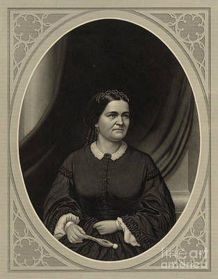 First Lady Photograph - Mary Todd Lincoln, First Lady by Science Source