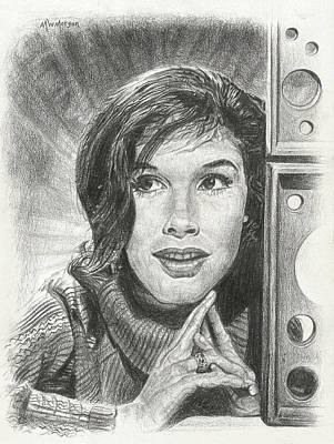 Drawing - Mary Tyler Moore by Michael Morgan
