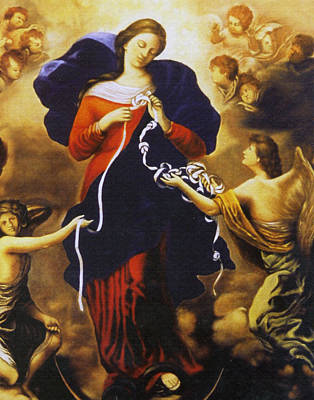 Er Images Photograph - Mary, Undoer Of Knots. by Samuel Epperly