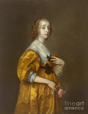 1636 Painting - Mary Villiers, Lady Herbert Of Shurland by Celestial Images
