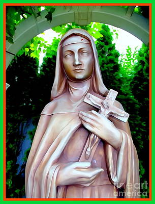 Digital Art - Mary With Cross by Ed Weidman