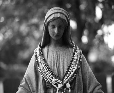 Mary With Rosaries Art Print