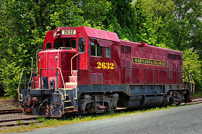 Photograph - Maryland And Delaware Engine 2632 by Bill Swartwout