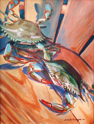 Painting - Maryland Blue Crabs by Sarah Grangier