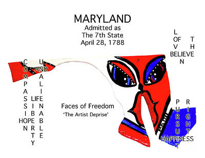 Painting - Maryland by Deprise Brescia