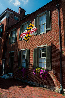 Photograph - Maryland Flag - Frederick Md by Dana Sohr