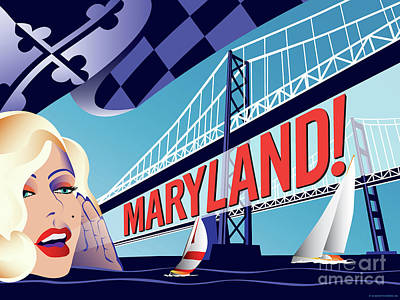 Digital Art - Maryland Monroe by Joe Barsin