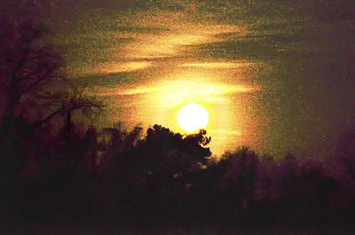 Moon Photograph - Maryland Moonlight by Bill Cannon