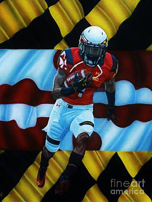 Nfl Painting - Maryland Pride by Anthony Young