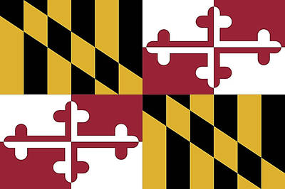Photograph - Maryland State Flag by Robert Banach