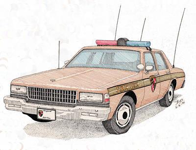 Maryland State Police Car Art Print by Calvert Koerber