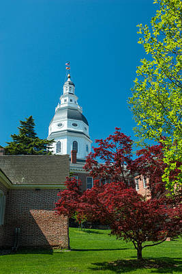 Photograph - Maryland Statehouse  by Dana Sohr