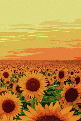 Painting - Maryland Sunflowers by Andrea Mazzocchetti
