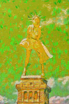 Pendant Painting - Marylin Liberty 3 - Pa by Leonardo Digenio