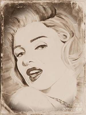 Painting - Marylin Monroe by Jeepee Aero