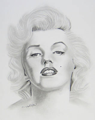 Drawing - Marylin Monroe  by Joseph Palotas