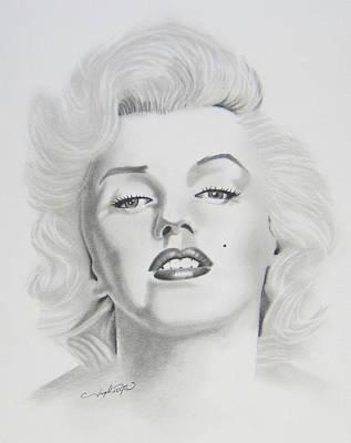 Drawing - Marylin Monroe  by Joseph Palotas