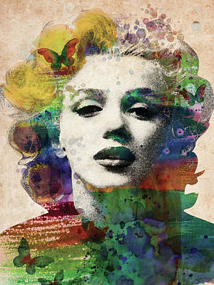 Digital Art - Marylin Monroe by Mihaela Pater