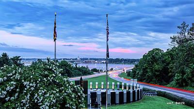 Photograph - Maryland World War II Memorial by Walt Baker