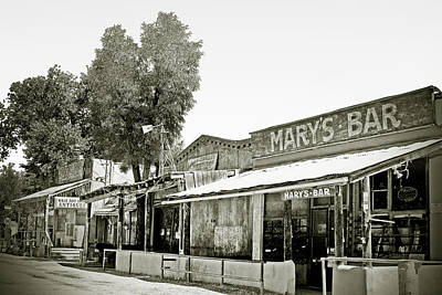 Old Western Photograph - Mary's Bar Cerrillo Nm by Christine Till