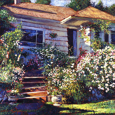 Impressionism Paintings - Marys Cottage by David Lloyd Glover