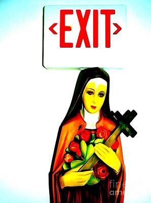 Digital Art - Marys Exit by Ed Weidman