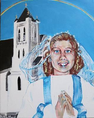 Mary's First Communion Art Print