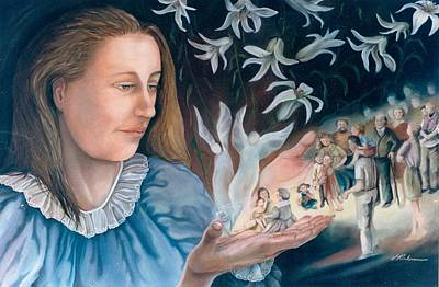 Painting - Mary's Hands - Les Mains De Marie by Therese Rouleau
