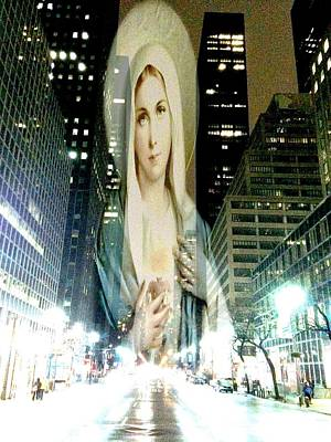 Mary's Heart Of The City Original by Tina Mancusi
